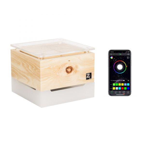 ZirbenLüfter ® CUBE mini cristall RGB für 15 m2