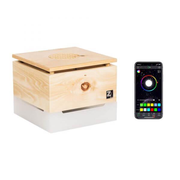 ZirbenLüfter ® CUBE mini pure RGB für 15 m2