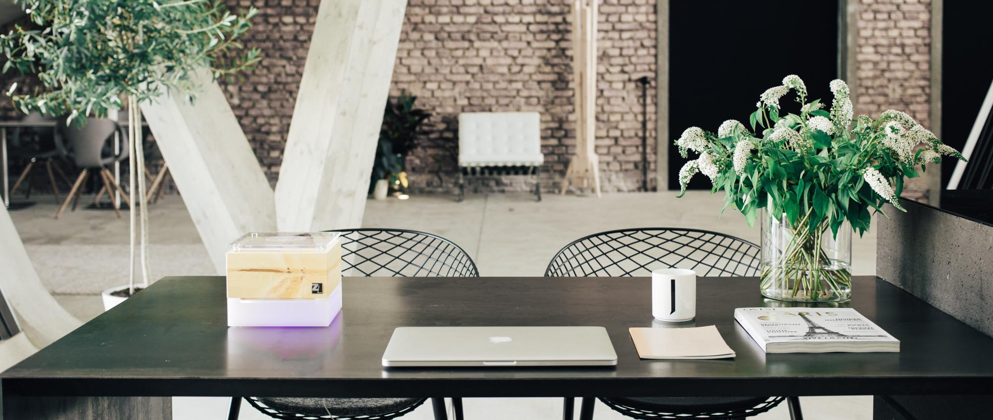 ZirbenLüfter Cube mini, Luftreiniger, Luftbefeuchter für gesundes Raumklima in Räumen bis 15 m2