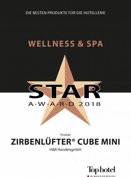 ZirbenLufter-ZirbenLuefter-CUBE-mini-Top-Hotel-Urkunden-Wellness-Bronze