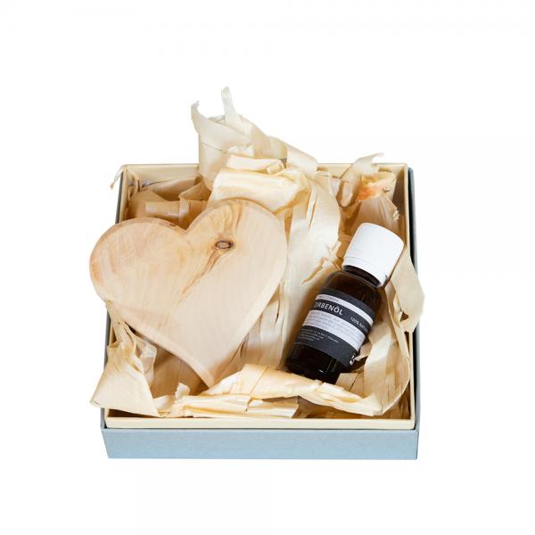 ZirbenLüfter ® Swiss stone pine oil set 5 ml and 20 ml - in cardboard with hooded lid