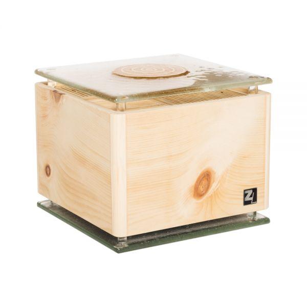 ZirbenLüfter ® CUBE rondo glass gold für 40 m2